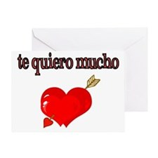 te quiero mucho-I love you very much Greeting Card