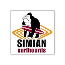 "Simian logo Square Sticker 3"" x 3"""