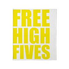 freeHighFiv1D Throw Blanket