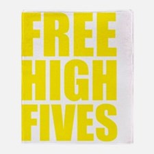 freeHighFiv1D Throw Blanket