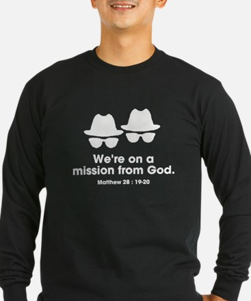 On a Mission White Long Sleeve T-Shirt