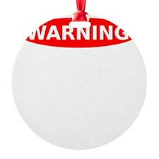 May Contain Cheese Warning Ornament