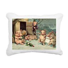 Drunken Pig Fitness Pub Rectangular Canvas Pillow