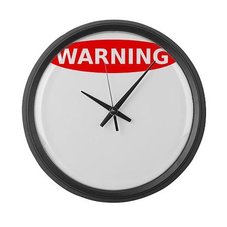 Warning May Contain Alcohol Large Wall Clock