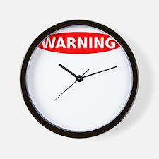 Warning May Contain Alcohol Wall Clock