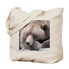 Lazy grizzly Tote Bag