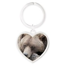 Lazy grizzly Heart Keychain