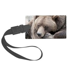 Lazy grizzly Luggage Tag