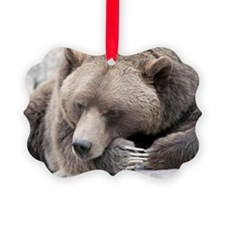 Lazy grizzly Ornament