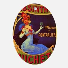 Absinthe Poster Vintage French Ad Oval Ornament