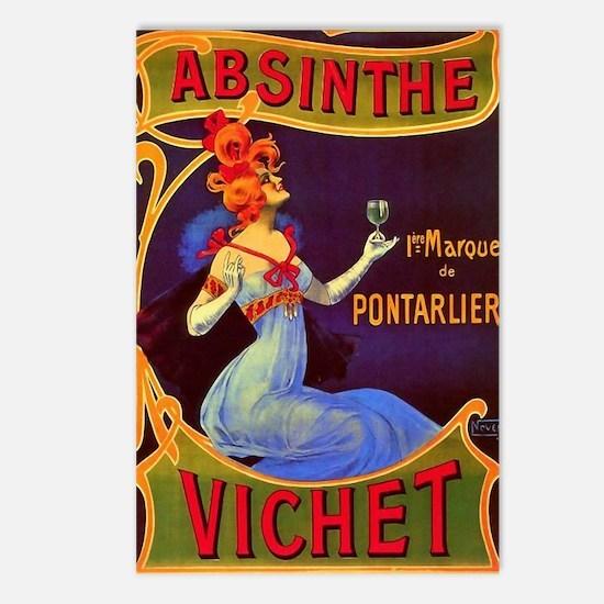 Absinthe Poster Vintage F Postcards (Package of 8)