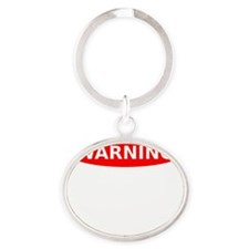 May Contain Awesome Warning Oval Keychain