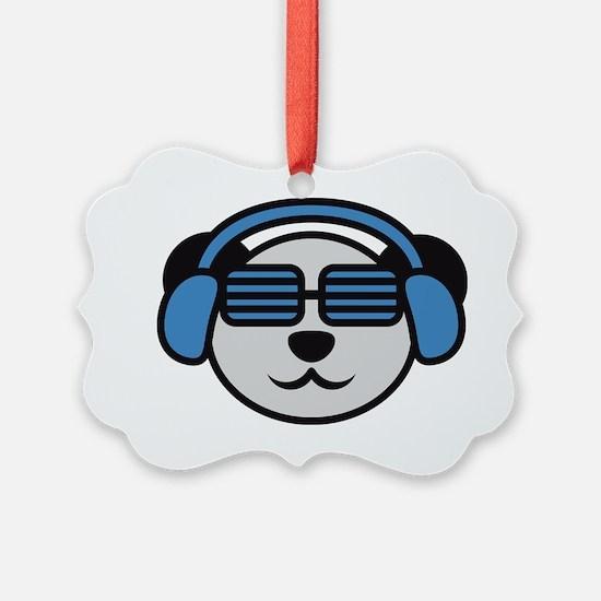 music_panda_head Ornament