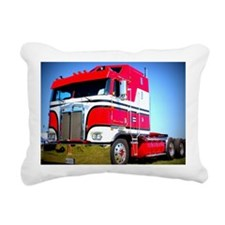 1985 Kenworth Cabover K1 Rectangular Canvas Pillow