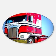 1985 Kenworth Cabover K100 Sticker (Oval)
