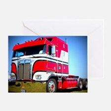1985 Kenworth Cabover K100 Greeting Card