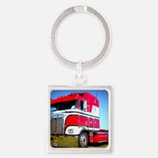 1985 Kenworth Cabover K100 Square Keychain