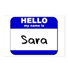 hello my name is sara  Postcards (Package of 8)