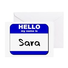 hello my name is sara  Greeting Cards (Package of