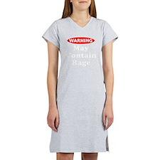 Warning May Contain Rage Women's Nightshirt