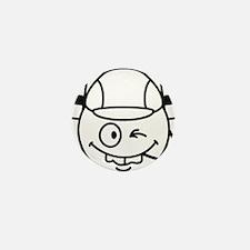drinking_helmet_smiley Mini Button