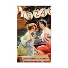 Edwardian Girls Smoking French Decal