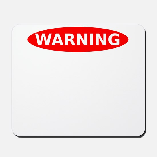 May Contain Nuts Warning Mousepad
