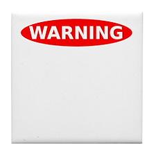 May Contain Rum Warning Tile Coaster