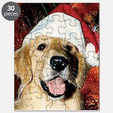 Golden Retriever Christmas Puzzle