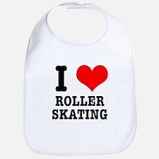 I Heart (Love) Roller Skating Bib