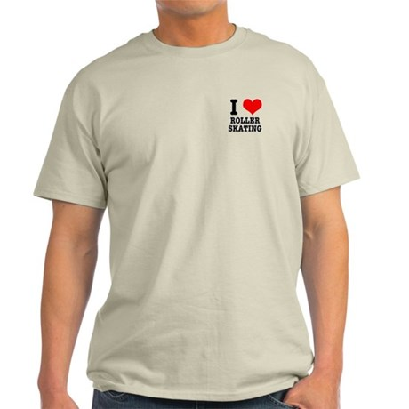 I Heart (Love) Roller Skating Light T-Shirt