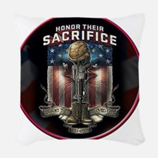 01026 HONOR THEIR SACRIFICE Woven Throw Pillow