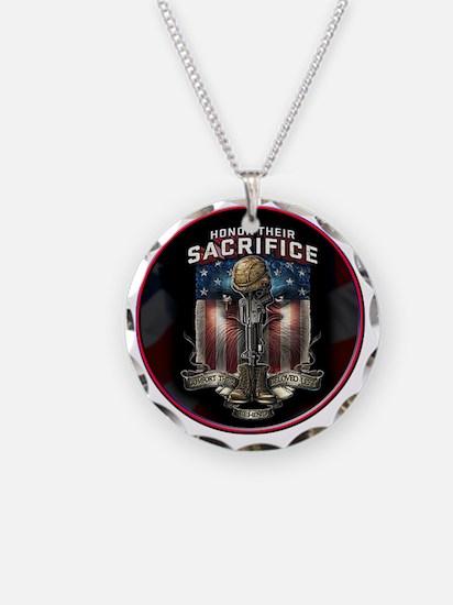 01026 HONOR THEIR SACRIFICE Necklace Circle Charm