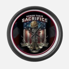01026 HONOR THEIR SACRIFICE Large Wall Clock