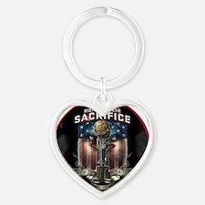01026 HONOR THEIR SACRIFICE Heart Keychain