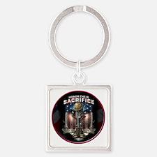 01026 HONOR THEIR SACRIFICE Square Keychain