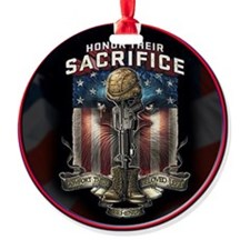 01026 HONOR THEIR SACRIFICE Ornament