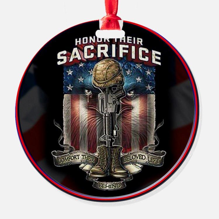 01026 HONOR THEIR SACRIFICE Ornament