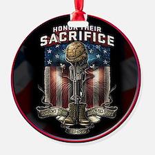01026 HONOR THEIR SACRIFICE Round Ornament