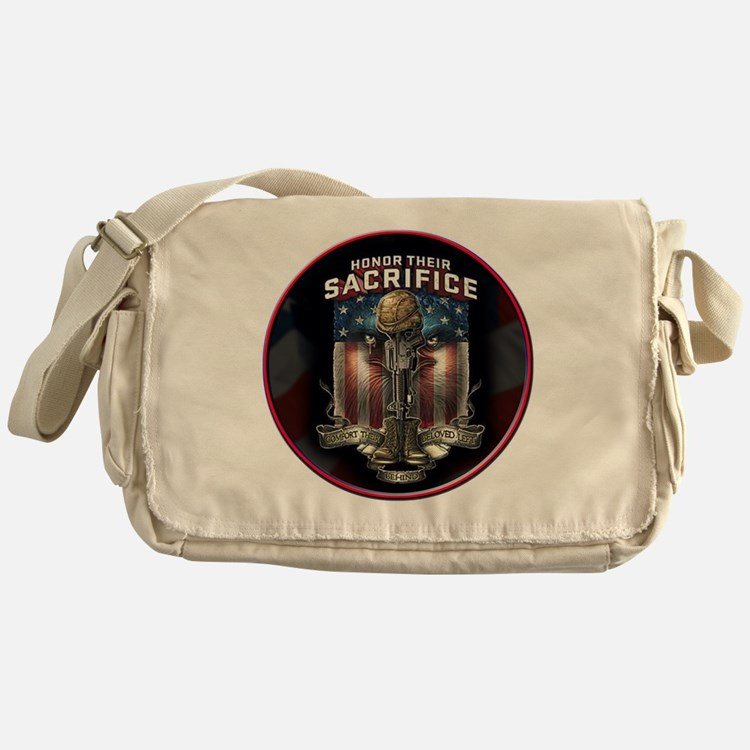 01026 HONOR THEIR SACRIFICE Messenger Bag