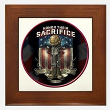 01026 HONOR THEIR SACRIFICE Framed Tile