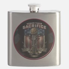 01026 HONOR THEIR SACRIFICE Flask