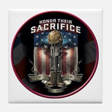 01026 HONOR THEIR SACRIFICE Tile Coaster