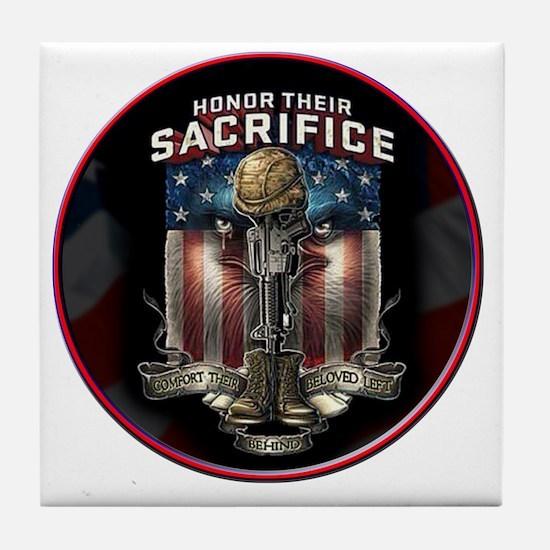 01026 HONOR THEIR SACRIFICE Tile Coaster