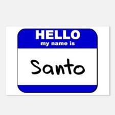 hello my name is santo  Postcards (Package of 8)