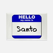 hello my name is santo Rectangle Magnet
