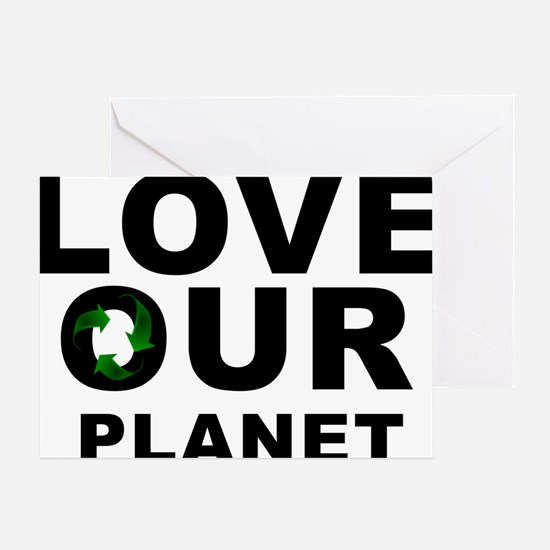 love our planet recycle Greeting Card