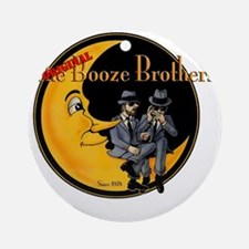 The Original Booze Brothers Round Ornament
