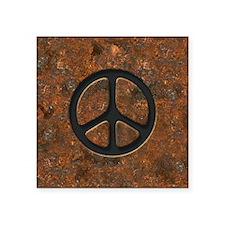"rusty-peace-LG Square Sticker 3"" x 3"""