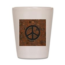 rusty-peace-LG Shot Glass